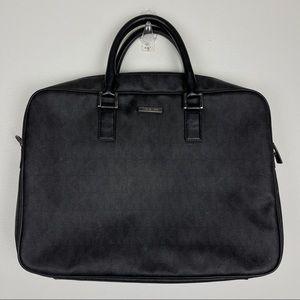 Michael Kors Black Signature Laptop Messenger Bag